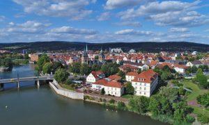 Blick auf Altstadt und Hotel Stadt Hameln